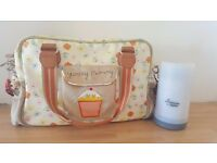 Yummy Mummy changing bag & tommee tippee bottle warmer