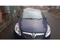 Vauxhall Corsa 2009 Blue 1.3 Diesal Manual 3 months MOT
