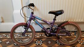 "Girls bike. Purple 16"" Dawes blowfish"