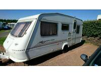 Elddis firestorm 500/5 with motor mover, dorema awning and porch awning and accessories