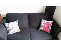 Black 2 Seater Sofa Bed, Excellent quality and condition