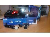 Ps3 supper slim with playstation T,V +playstation move