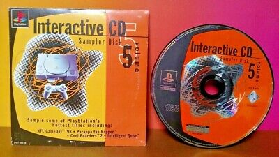 PlayStation 1 Interactive CD Sampler Disk Volume 5 (Sony PS1) COMPLETE in SLEEVE