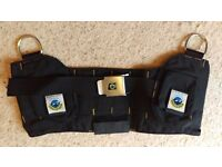 XL Bowstone weight belt for holding loose lead shot (comfortable Scuba diving) - £15