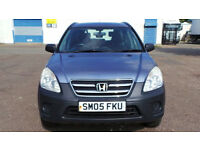 2005 05 HONDA CR-V I-VTEC SE 2.0 4x4 BLUE (CHEAPER PART EX WELCOME)