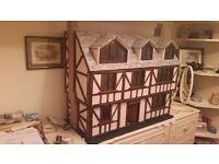 beautiful hand made tudor dolls house