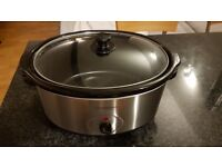 Cookworks SC-65-O 6.5L Slow Cooker - Stainless Steel.