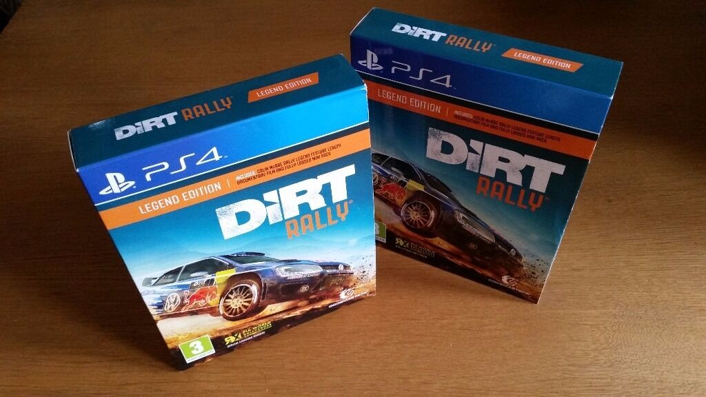 DIRT RALLY PS4 LEGEND CARDBOARD SLEEVE With Colin McRae Documentary NEW X2 GBP5