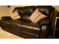 3 Seater PU Leather 2 Manual recliner Sofa 14 months old RRP £ 899
