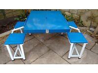 4 Person Camping Foldaway Picnic Table Bench