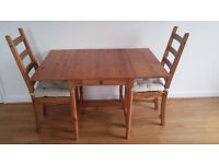 Wooden dining table and chair set