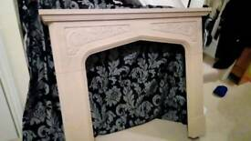 Sandstone effect fire surround in perfect condition