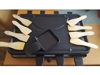 Bifinett raclette grill electric with 8 pans and 8 spatulas