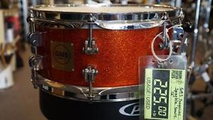 Caisse Claire GMS Snare Tangerine sparkle Érable/Maple 12po Usagé/Used