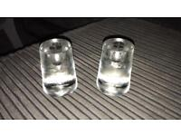 Soild glass candle stick holders -£10