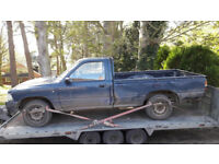 WANTED TOYOTA HILUX 2WD 2 WHEEL DRIVE ANY AGE