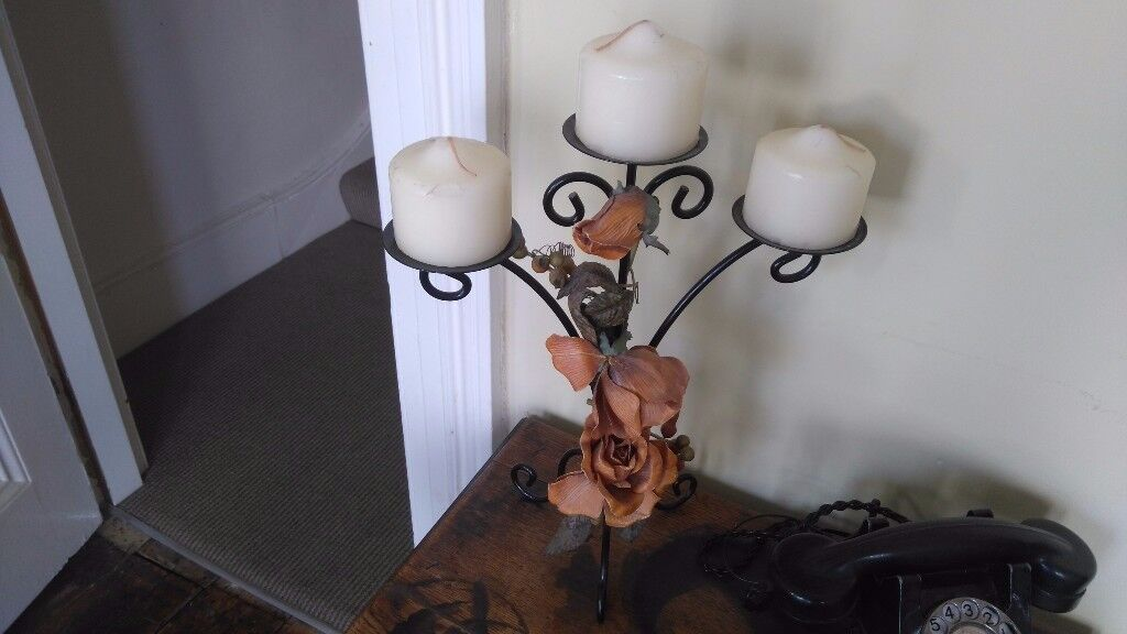 Candle holder with candles