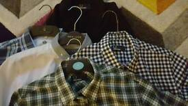 Fred Perry Youth sz large shirts and cardigan