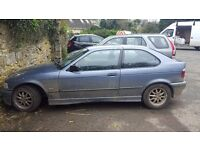 Bmw 318tds spares or repairs , runs well , low milage,6 months m.o.t, needs new wishbone