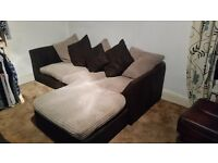 Corner sofa used still good condition with puffy