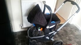 Mother care pram from newborn with carseat carrycot and bigger bit