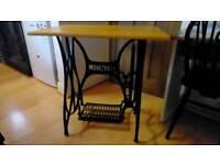 Sewing machine table Jones (not Singer) cast iron
