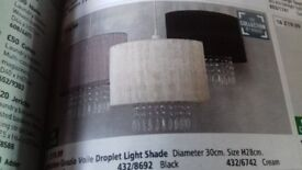Black argos Grazia voile droplet light shades