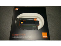 Orange E160e mobile broadband dongle - black and orange.