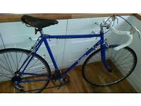 Vintage Carlton road racing bike 60s? Powder coated Brooks GB Steel Durham