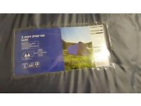 Pop up two man tent brand new never used