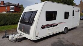 6 berth Caravan Elddis Avante 576 2013 Over £2000 of extras inc motor mover..