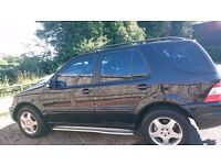 2003 Mercedes Benz ML 270 CDi Black 5door 7 Seater Auto Diesel Chrome Bull Bars Chrome Side Skirts