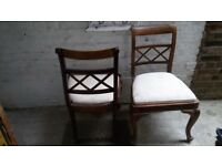 Vintage Dining Chair x 2~India Jane~French Carved Cabriole style Oak legs Chairs