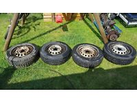 "vw lt, mercedes sprinter15"" wheels with tyres"