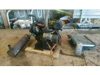 Kubota D1105 Stationary Diesel Engine, 3cyl, 21hp, Good Working Order.