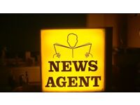 neon news agent sign sealed unit