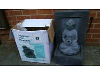 Very nice and decorative garden or home use fontain with box!Can deliver or post!