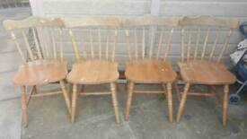 Wooden chairs.