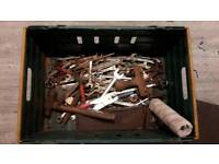 Box of various spanners