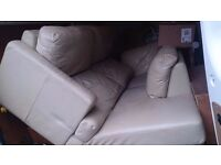 sofa beige colour corner full leather