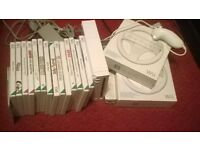 Nintendo Wii with 15 games