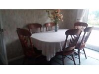 Dining Table & 8 chairs.