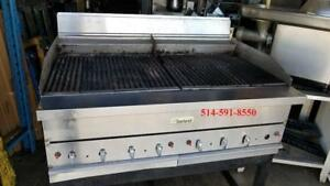 """Garland 48""""  Charcoal Charbroiller , Grill , Grille , Grilloir  Gas Gaz Heavy Duty"""