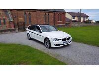 63 REG BMW 330D AUTO ESTATE F1-PADDLE WHITE M-SPORT 1-OWNER FSH MOT-17 OUTSTANDING FREE-DELIVEREY