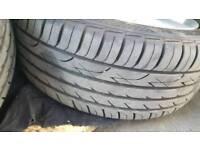 Saab aero alloy wheels nearly new tyres