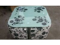 Brand new glass dining sets various designs & colours