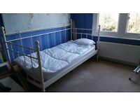 Free Victorian style single bed. Good condition. Mattress included.