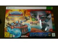 Xbox 360 skylanders super chargers starter pack. Game and figures. New in box
