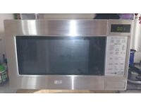 LG stainless steel microwave, E-800W.
