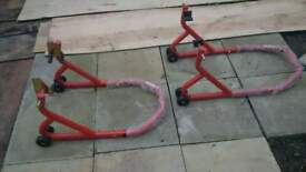 new front and rear motorcycle stands
